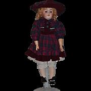 "Antique Doll Bisque Kestner Square Teeth Gorgeous Dressed! ""W"""