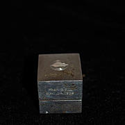 Old Sterling Silver Miniature Box Vanity For Doll Mappin & Webb Hinged Box