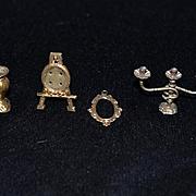 Antique Doll Miniature Ornate Set of Accessories Frames Easel Candelabra Vase Dollhouse LOT of Miniatures