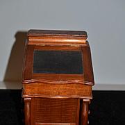 Wonderful Doll Burr Walnut Davenport Desk French Fashion FAB By Charles G. Anderson