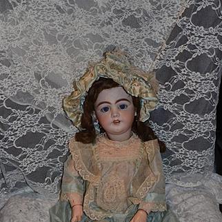 "Antique Doll Bisque SIMON & HALBIG 1009 DEP Antique Clothing 25"" Tall"