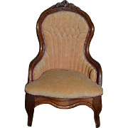 Vintage Doll Artist Chair Ornate LEONETTA 1982 Dollhouse Miniature Signed