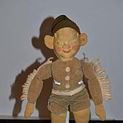 Old Doll Cloth Doll Rag Doll Elf Brownie Gremlin So Adorable