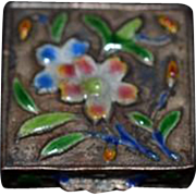 Old Doll Cloisonne Miniature Box Hinged Dollhouse