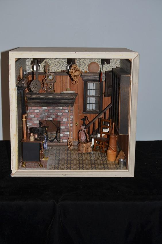 Miniature Children S Bedroom Room Box Diorama: Old Doll Miniature Diorama Dollhouse Antique Store Filled