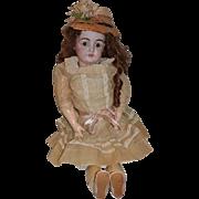"""Antique Doll Kestner 146 Large Girl All Dressed Bisque Doll 30"""""""