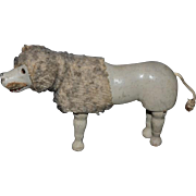 Antique Schoenhut Dog Poodle For Schoenhut Doll Humpty Dumpty Glass Eyes