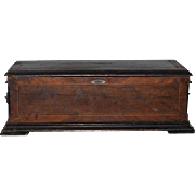 Antique Switzerland Wood Music Box Jacot's Wood Case 1880's Music Box LARGE
