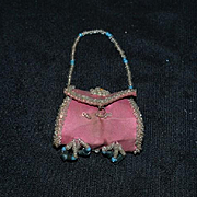 Old Doll Fancy Miniature Beaded Purse French Fashion Ornate