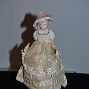 Old Doll Candy Container Unusual Bisque Girl Wonderful