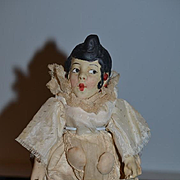 Old Rare French Doll A WILLETTE Signed Colombine Pierrot