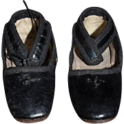 Old Doll Shoes Leather Square Toe Ankle Straps ADORABLE