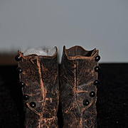 Old Doll Leather Button up Boots w/ Heels Sweet