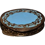 Old Miniature Doll Vanity Enamel Compact Jar Italian Hinged Box