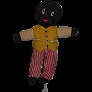 Old Doll Golliwog Cloth Doll Black Doll Rag Doll Unusual