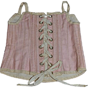 Old Doll Corset Pink Lace Up Doll Clothes Doll Clothing