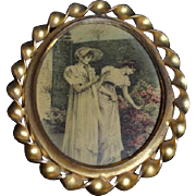 Antique Doll Miniature Picture Frame Wonderful Dollhouse