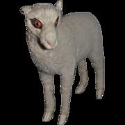 Wonderful Vintage Doll Lamb Toy For Fashion Doll Glass Eyes Artist