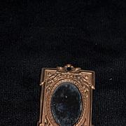 Old Doll Dollhouse Miniature Mirror Metal