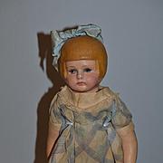 Antique Doll Marth Chase Cloth Doll Oil Cloth Bob Hair Cut