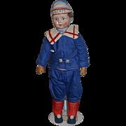 Old Doll China Head Liberty Doll Boy Doll Unusual