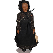 """Old Doll Wood Carved """"Ursey"""" Tennessee Cedar Doll Jointed Folk Art"""