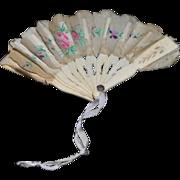 Old Doll Fan Miniature Gorgeous!