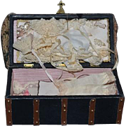 Wonderful Doll Miniature Trousseau Artist Doll Trunk Purse W/ Clothing Miniature Accessories UFDC LISETTE Cathy Hansen