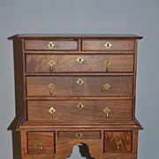 Wonderful Doll Highboy Chest Wood W/ Fancy Detail French Fashion Dream Cabinet! Fred Laughlo