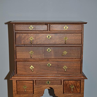 Wonderful Doll Highboy Chest Wood W/ Fancy Detail French Fashion Dream Cabinet! Fred Laughlo