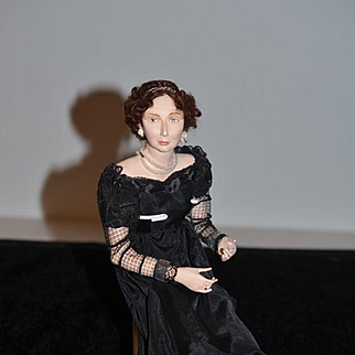 Wonderful Doll Artist Doll Wonderful Sculptured Doll W/ Fancy Clothing Jewelry