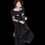 Wonderful Doll Artist Doll Wonderful Sculptured Doll W/ Fancy Clothing Jewelry
