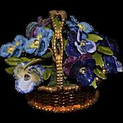 Wonderful Gorham Jane Hutcheson Fleur Des Siecles Enamel Basket of Flowers