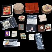 Vintage Doll Dollhouse Miniatures Miniature Lot Some Signed! Hat Boxes, Suit Case Pictures and More David Edwards Miniatures..