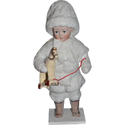 Vintage Doll Artist Doll Johnny's 1st Horsey Snow Children From Dear Doll's St. Nicholas Collection By Elaine Roesle Limited Edition