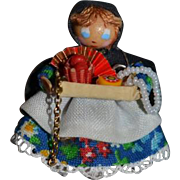 Artist Doll Miniature Peddler Doll Artist Wonderful Dollhouse TINY