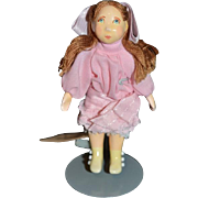 Wonderful Doll Artist Doll Small People By Cecily's Signed with Tag! Dollhouse Miniature