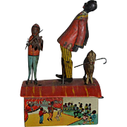 Old Tin Litho Marx The Charleston Trio In Original Box Black Doll Dancing and Playing Music w/ Dog Wind Up