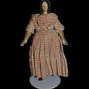 Antique Doll Milliner's Model Rare Hair Style Papier Mache & Wood