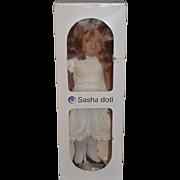 Vintage Doll Sasha Doll In Original Box 108 SASHA REDHEAD WHITE DRESS Sweet Doll!