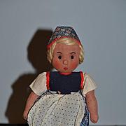 Old Cloth Doll Die Puppenstube W/ Original Tag