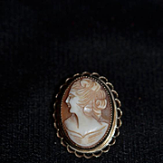 Wonderful Vintage Cameo Carved Shell For Doll