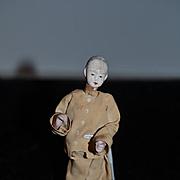 Old Doll Miniature Oriental Doll Unusual Dollhouse