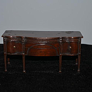 Old Doll Miniature Sideboard Sheraton Style Wonderful detail Carved