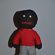 Old Cloth Doll Black Doll Golliwog Rag Doll