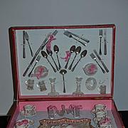Old Doll Child French Teaset Tea Set In Original Box Wonderful DEJEUNER