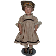 Antique Doll Wood Schoenhut Carved Jointed Doll