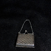 Old Miniature Sterling Silver French Fashion Doll Purse
