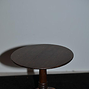 Old Doll Miniature Wood Round Pedestal Doll Table