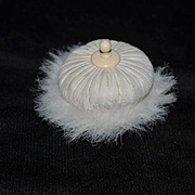 Old Powder Puff For Doll Feathers Adorable